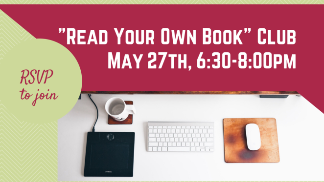 R.Y.O Book Club. May 27. 6_30-8_00-1